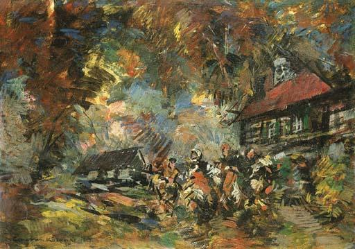 famous painting Celebration in the Country-side of Konstantin Alekseyevich Korovin