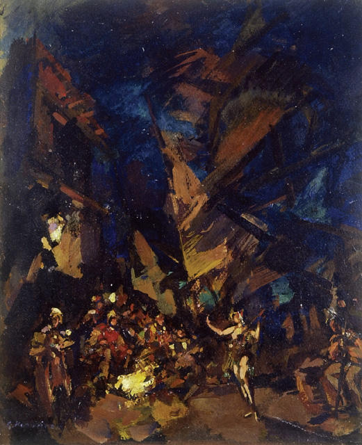 famous painting Design for the Ballet ('The Corsair') of Konstantin Alekseyevich Korovin