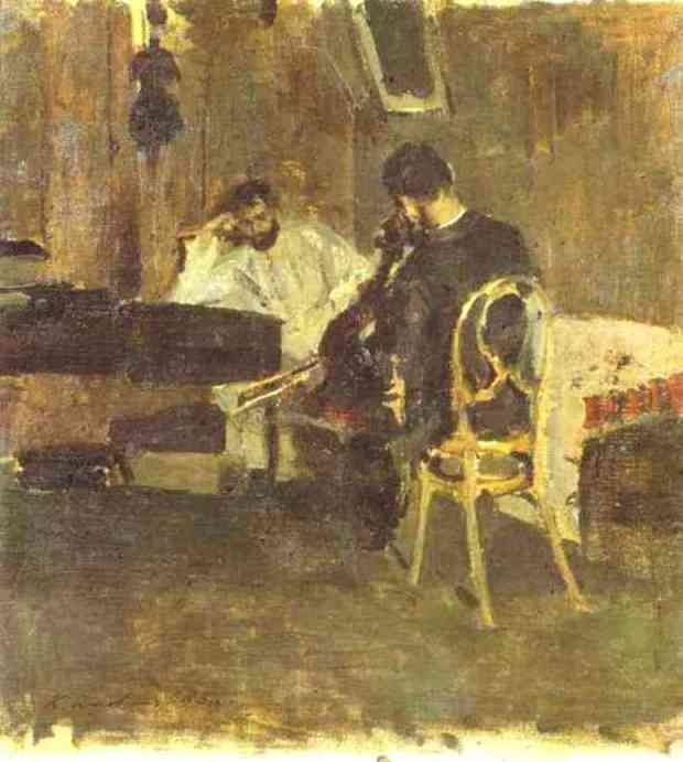 famous painting In a Room 1 of Konstantin Alekseyevich Korovin