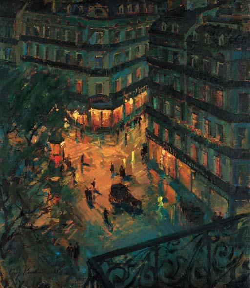 famous painting Paris by Night 2 of Konstantin Alekseyevich Korovin