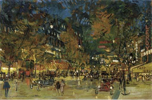 famous painting Paris by Night of Konstantin Alekseyevich Korovin