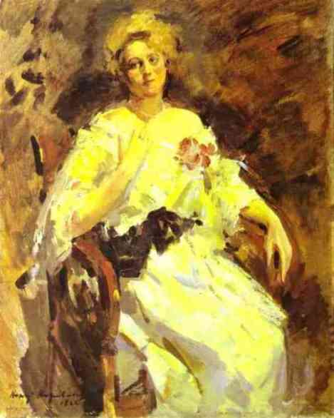 famous painting Portrait of a Woman 2 of Konstantin Alekseyevich Korovin