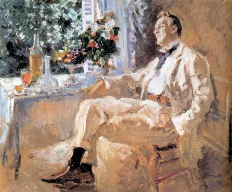 famous painting Portrait of Fedor Chaliapin 1 of Konstantin Alekseyevich Korovin