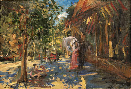 famous painting Promenade in the Sun of Konstantin Alekseyevich Korovin