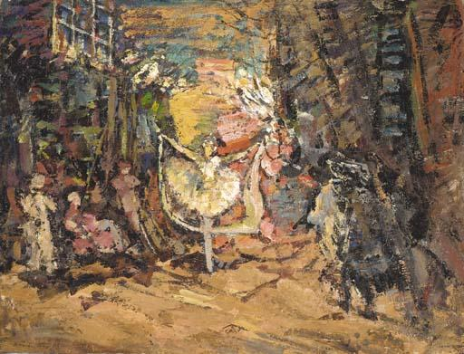 famous painting Stage Design for Don Quixote of Konstantin Alekseyevich Korovin