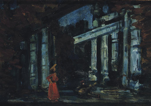 famous painting Stage design of Konstantin Alekseyevich Korovin
