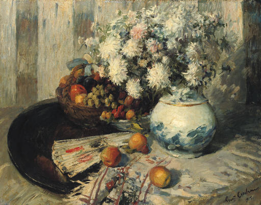 famous painting Still life with fan of Konstantin Alekseyevich Korovin