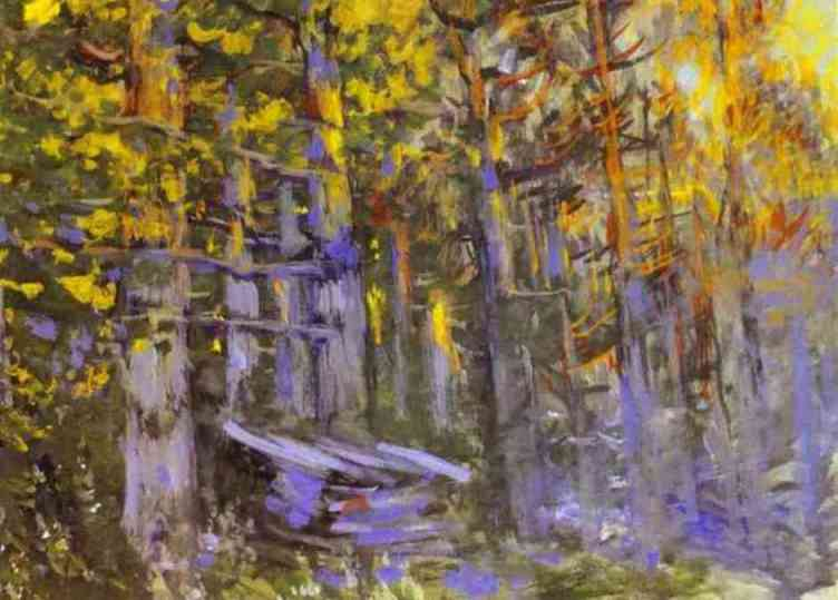 famous painting The Forest of Konstantin Alekseyevich Korovin
