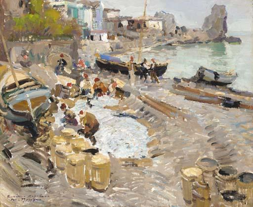 famous painting View of Gurzuf of Konstantin Alekseyevich Korovin