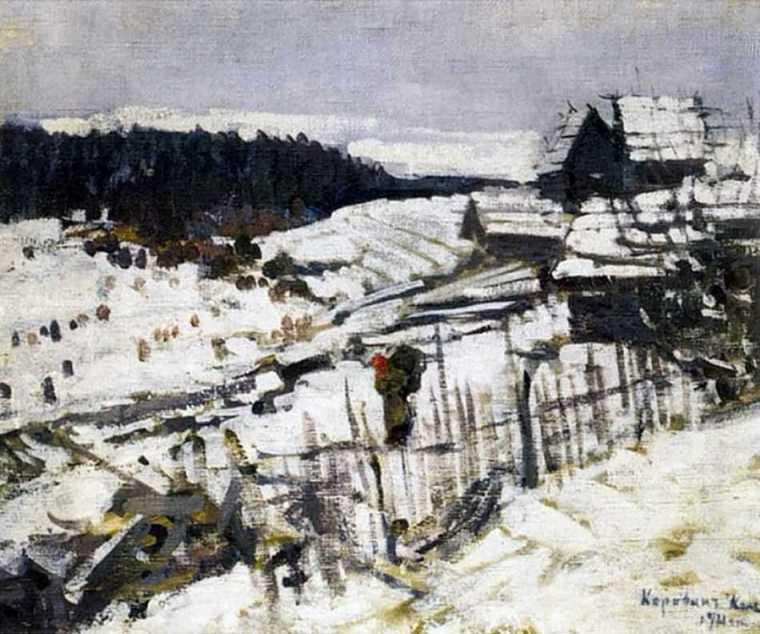 famous painting Winter of Konstantin Alekseyevich Korovin