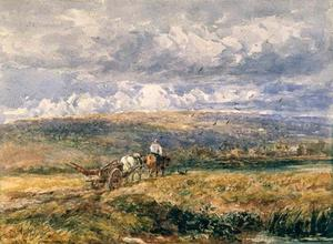 David Cox - Carting Home The Plough