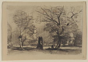 David Cox - Landscape With Trees
