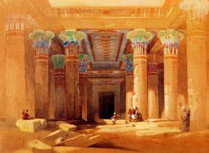 David Roberts - Philae, Pronaos Of The Temple Of Isis
