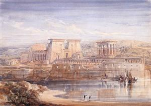 David Roberts - Philae. A View Of The Temples From The South