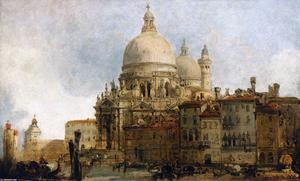 David Roberts - View Of The Church Of Santa Maria Della Salute, On The Grand Canal, Venice, With The Dogana Beyond