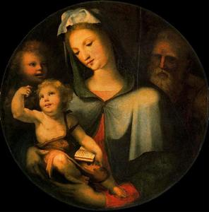 Domenico Di Pace Beccafumi - The Holy Family with the child St. John