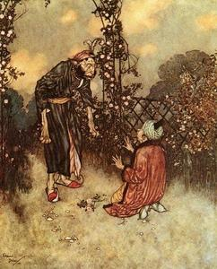 Edmund Dulac - Her Father Dropped the Rose