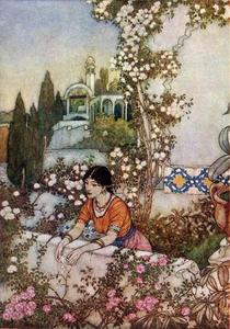 Edmund Dulac - The Rubaiyat. Blowing Rose