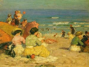 Edward Henry Potthast - A Day at the Beach 1