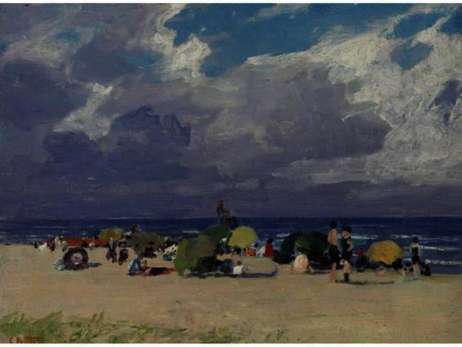 famous painting A Day At The Beach 2 of Edward Henry Potthast