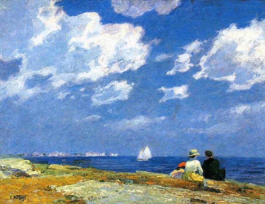famous painting Along the Shore of Edward Henry Potthast
