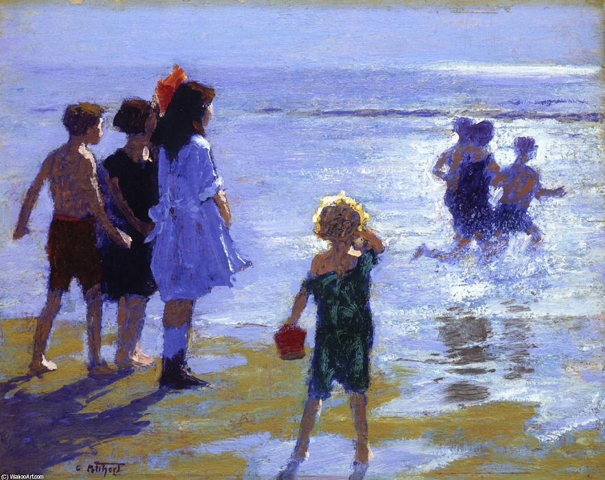 famous painting At Low Tide of Edward Henry Potthast