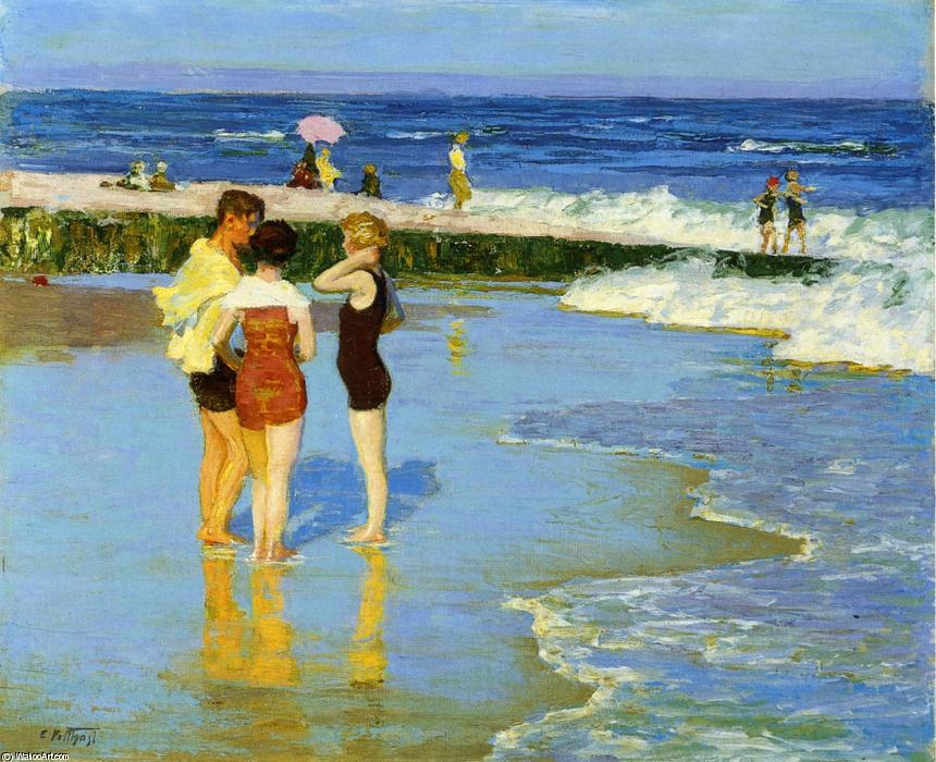famous painting At Rockaway Beach of Edward Henry Potthast