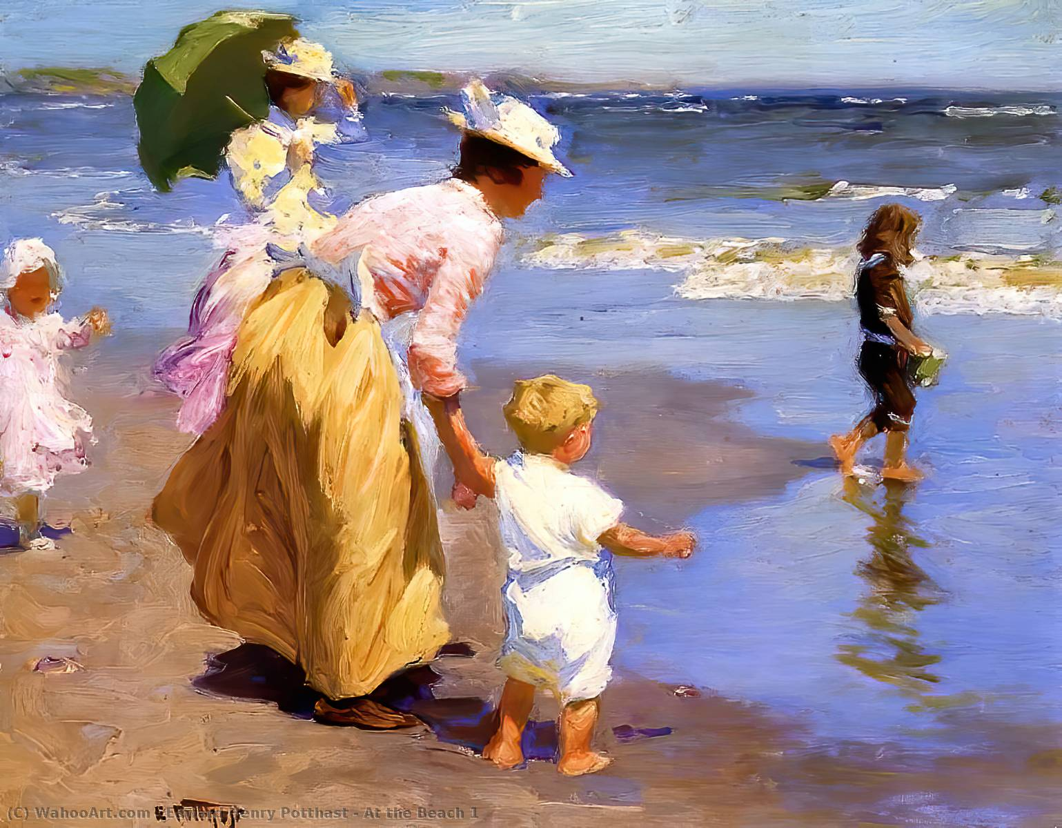 famous painting At the Beach 1 of Edward Henry Potthast