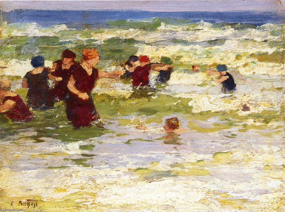 famous painting At the Beach 2 of Edward Henry Potthast