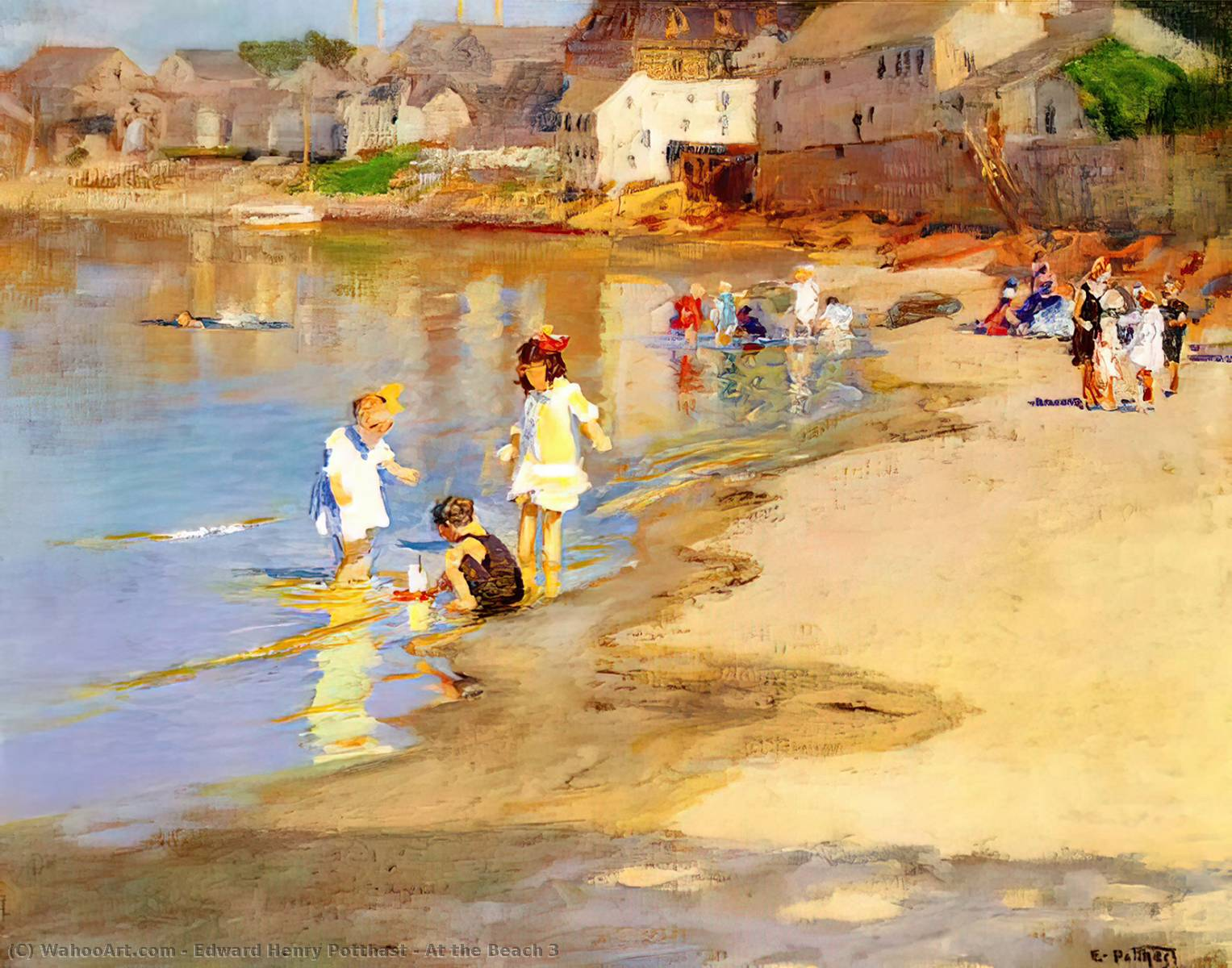 famous painting At the Beach 3 of Edward Henry Potthast