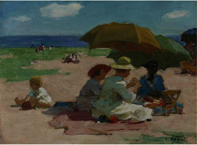 famous painting At the Beach 4 of Edward Henry Potthast