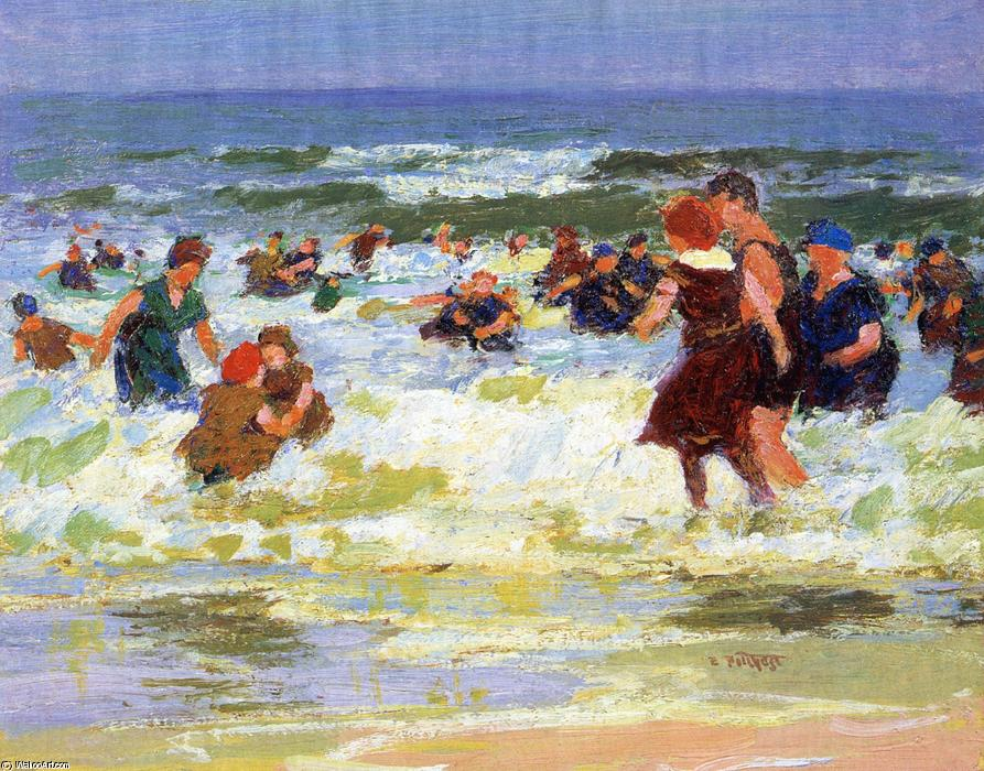 famous painting At the Beach of Edward Henry Potthast