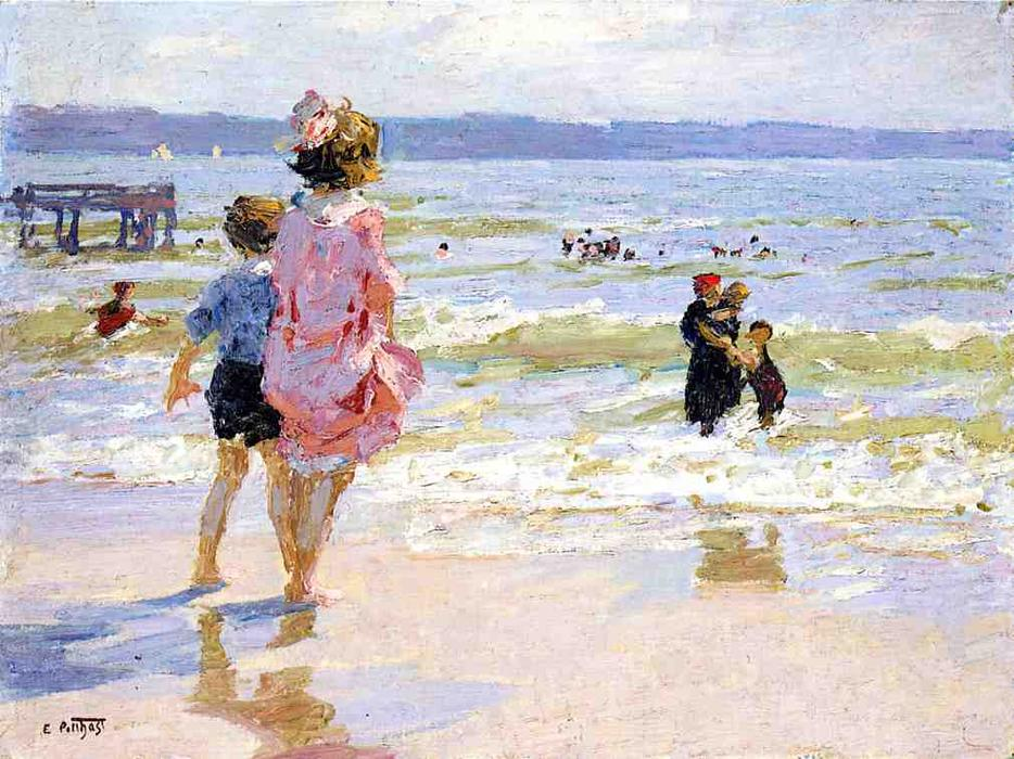 famous painting At the Seashore 1 of Edward Henry Potthast