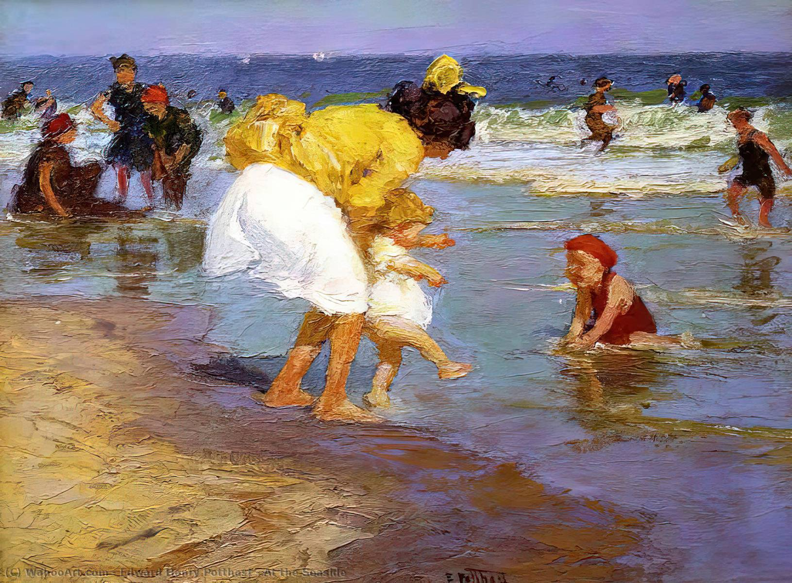 famous painting At the Seaside of Edward Henry Potthast