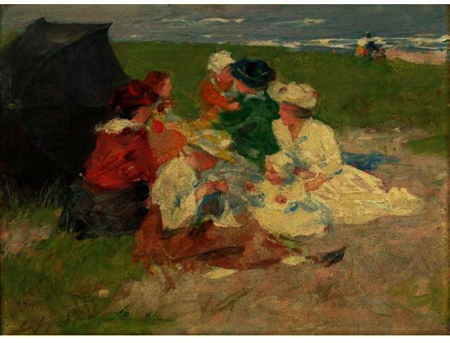 famous painting At The Shore of Edward Henry Potthast