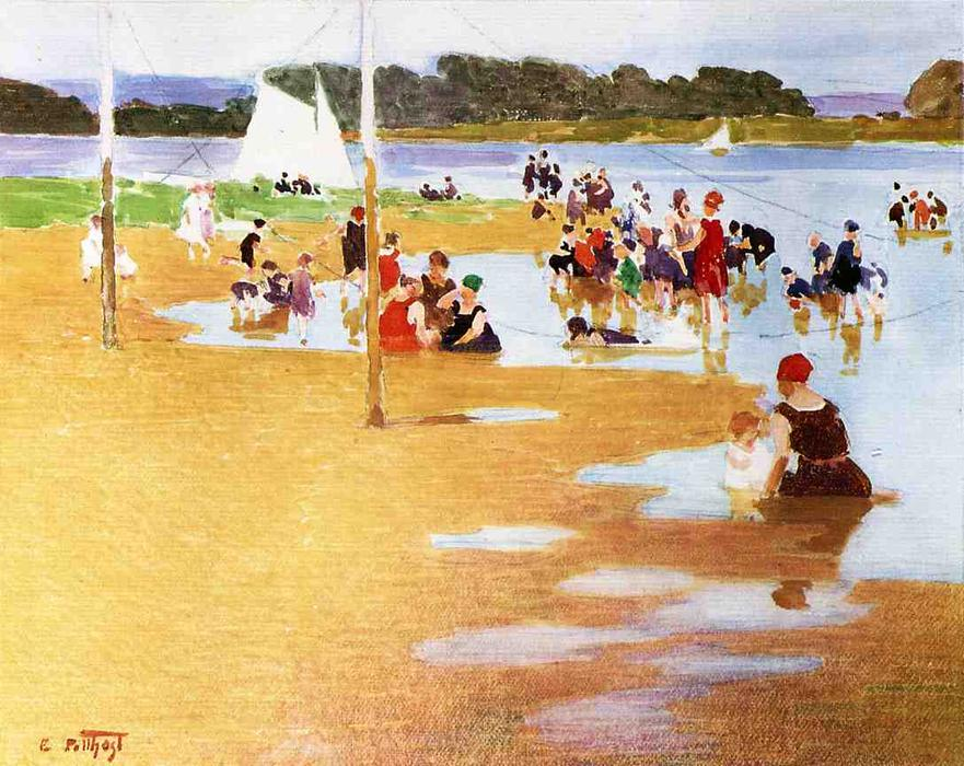 famous painting Bathers 1 of Edward Henry Potthast
