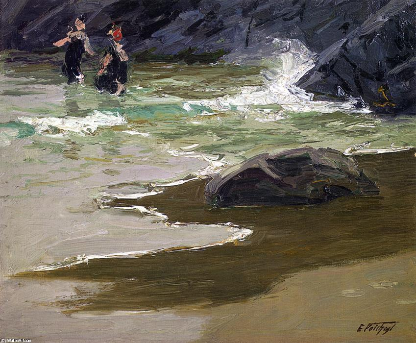 famous painting Bathers by a Rocky Coast of Edward Henry Potthast