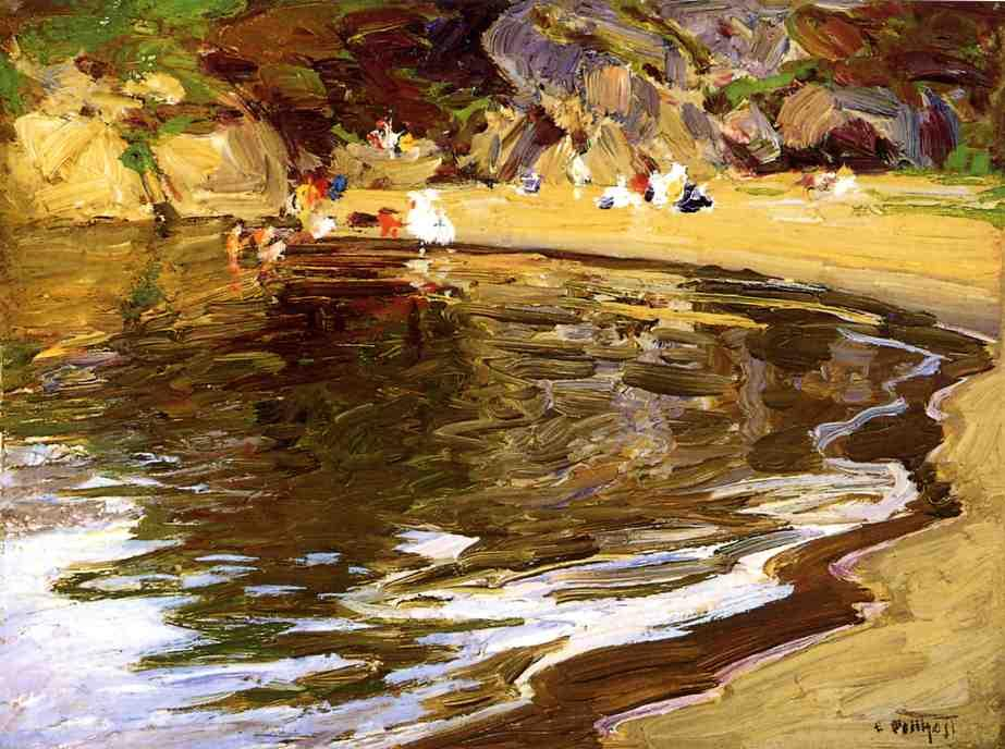 famous painting Bathers in a Cove of Edward Henry Potthast