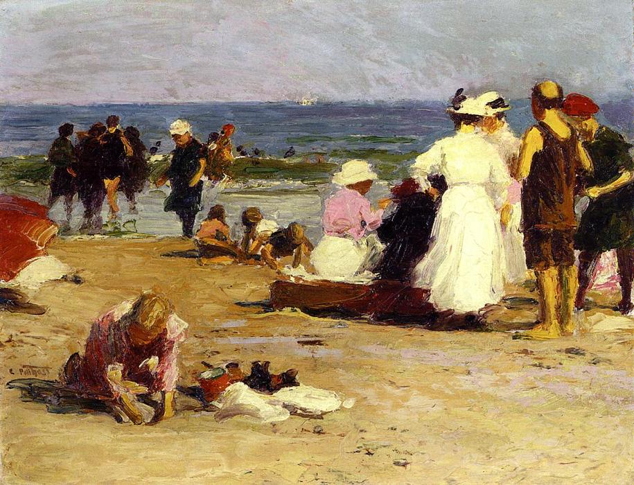 famous painting Bathers in the Surf of Edward Henry Potthast