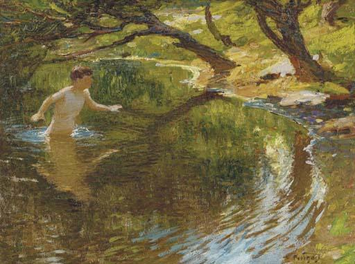 famous painting Bathing Boy of Edward Henry Potthast
