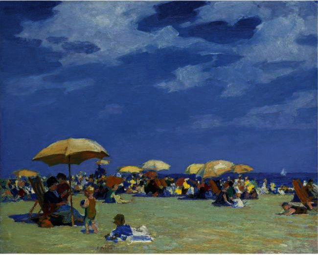 famous painting Beach At Far Rockaway of Edward Henry Potthast