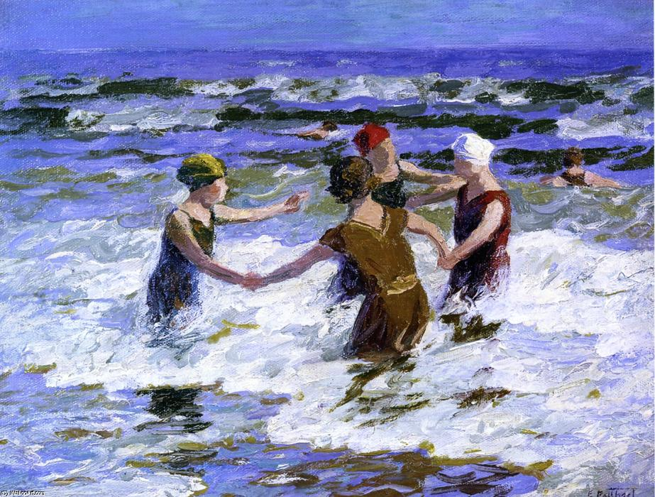 Order Museum Quality Copies Impressionism | Beach Fun by Edward Henry Potthast | TopImpressionists.com