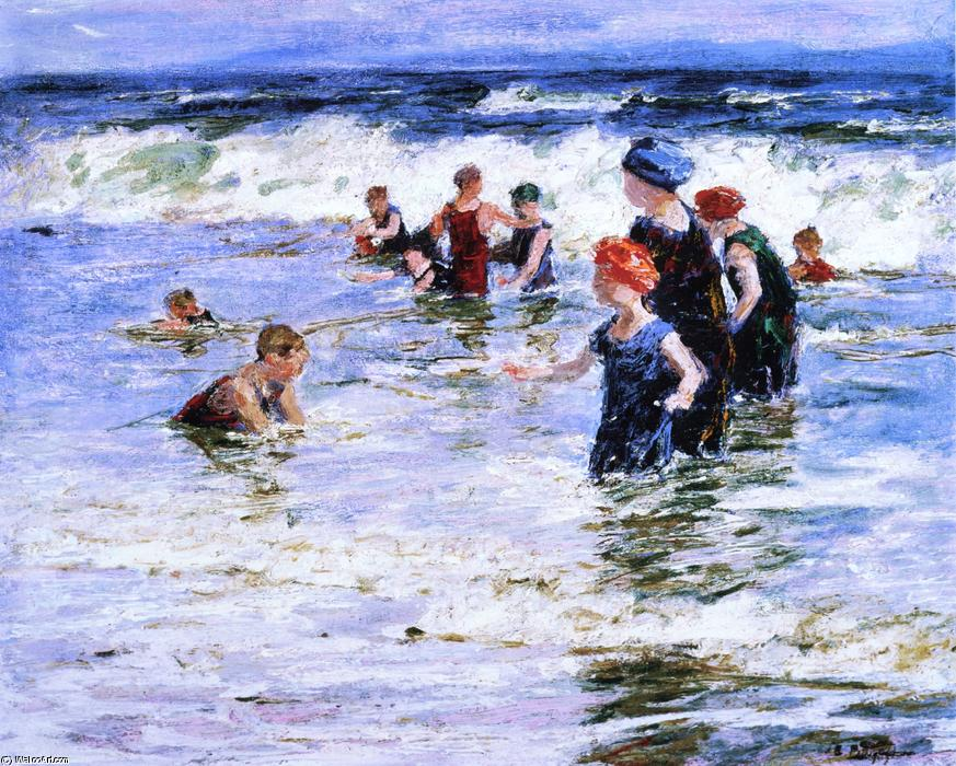 famous painting Beach Scene 4 of Edward Henry Potthast
