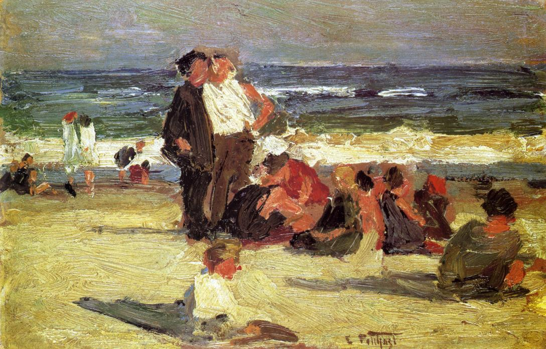 famous painting Beach Scene 5 of Edward Henry Potthast