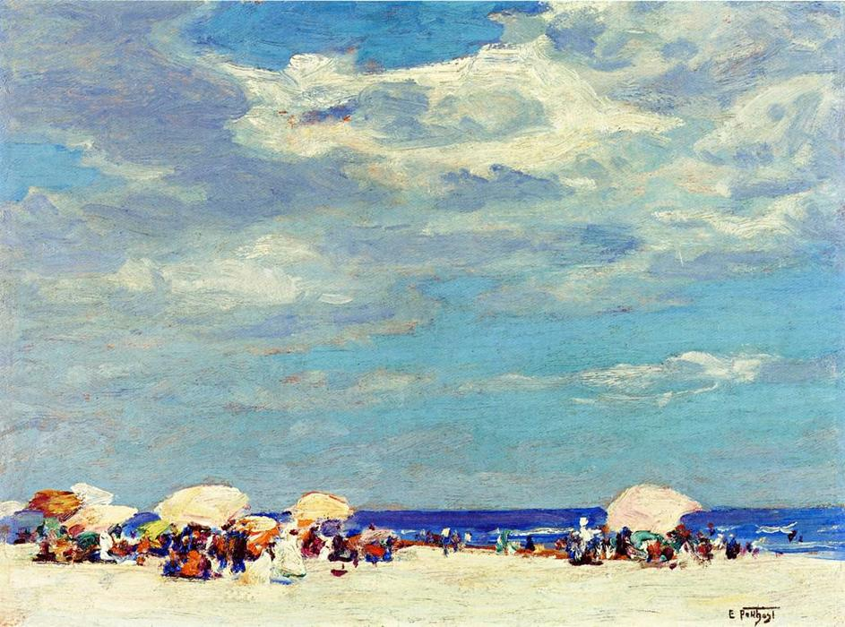 famous painting Beach Scene of Edward Henry Potthast