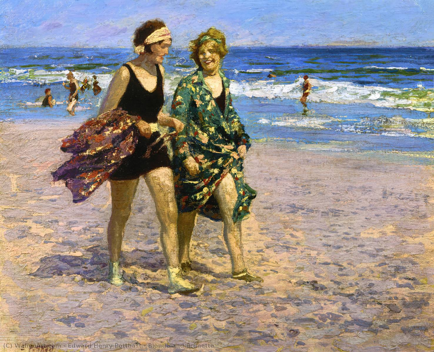 famous painting Blonde and Brunette of Edward Henry Potthast
