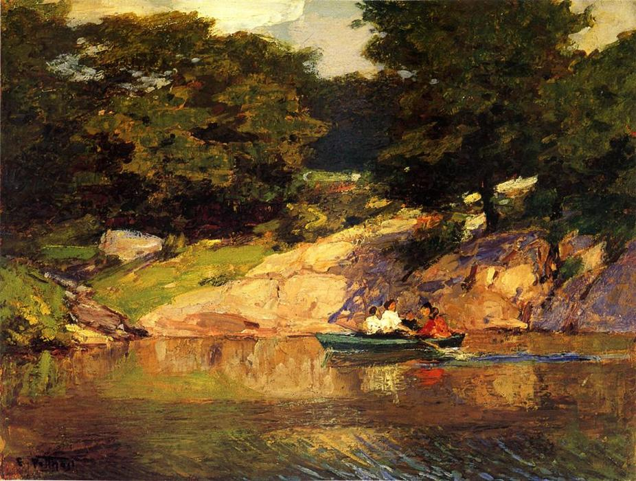 famous painting Boating in Central Parkk of Edward Henry Potthast