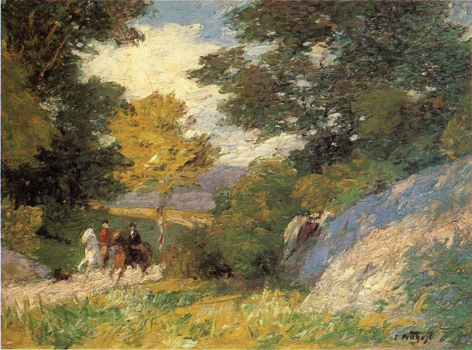 famous painting Bridle Path of Edward Henry Potthast