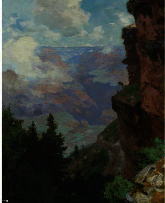 famous painting Bright Angel Trail, Grand Canyon of Edward Henry Potthast