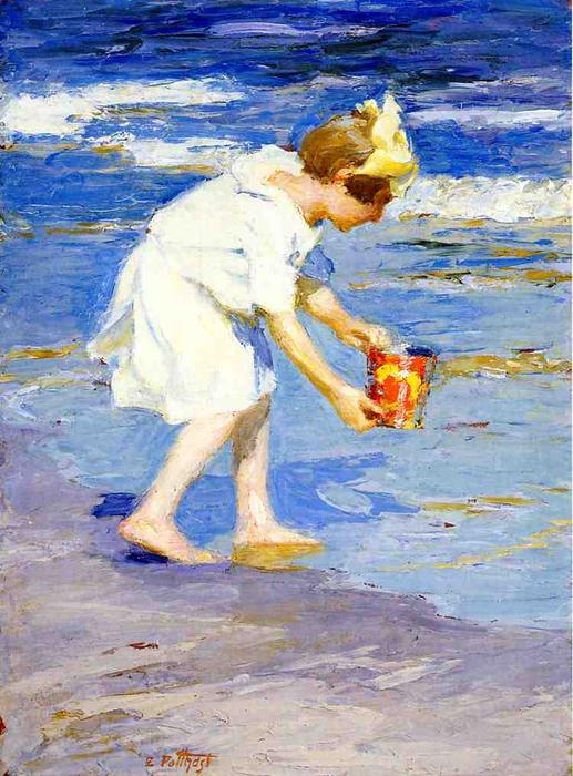 famous painting Brighton Beach of Edward Henry Potthast